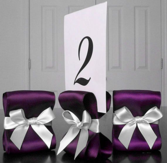 Table Number Holders  Wedding Decor  Ten 10 by ReservedSeating, $35.00