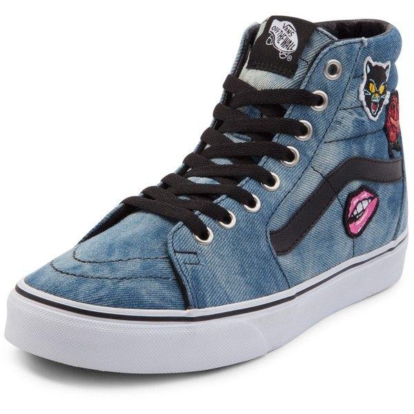 Vans Sk8 Hi Denim Patches Skate Shoe
