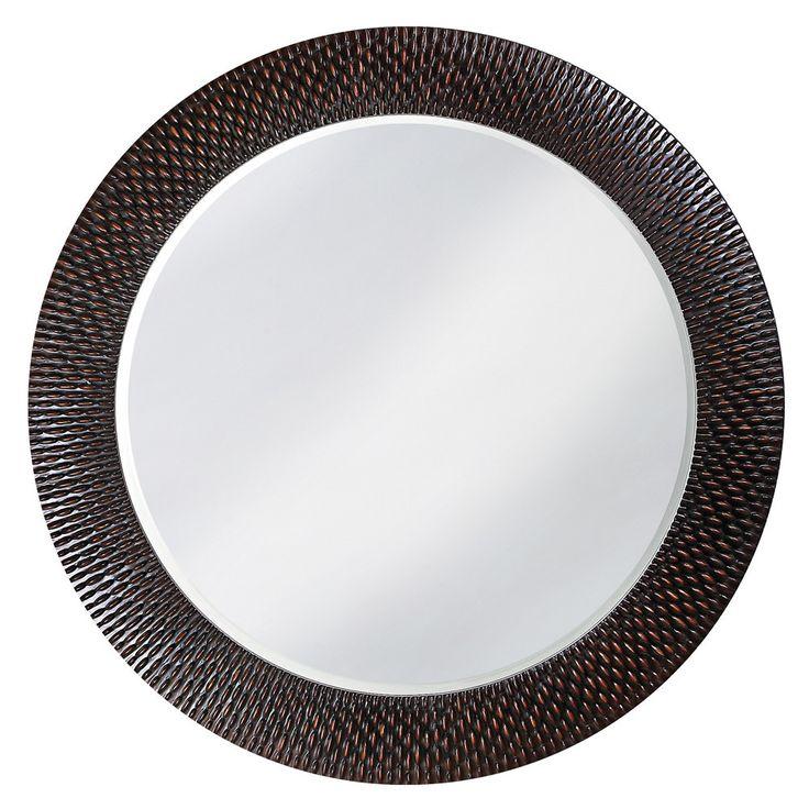 "Howard Elliott Bergman Black Round Mirror 54"" Diameter"