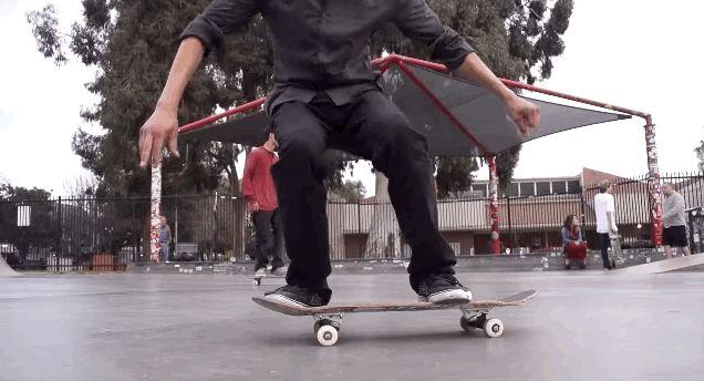 Slow-motion video of skateboarding