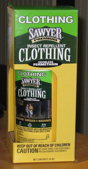 Sawyer Permethrin - Treat backpacking clothes against mosquitos, ticks and mosquitos. #pesticide #repellent