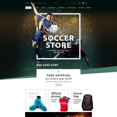 Soccer Shop Responsive OpenCart Template