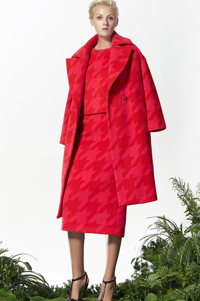 Red Wool Coat, Red Wool Skirt, Pencil Skirt, Red Wool Top, Xmas outfits! http://www.lastyleloft.com/online/shop-by-designer/vanessa-cheung/