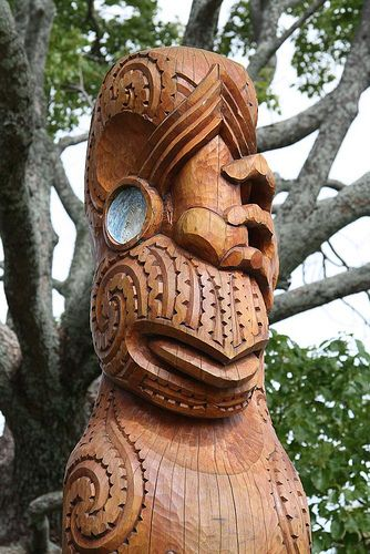 Maori art wood carving and woods