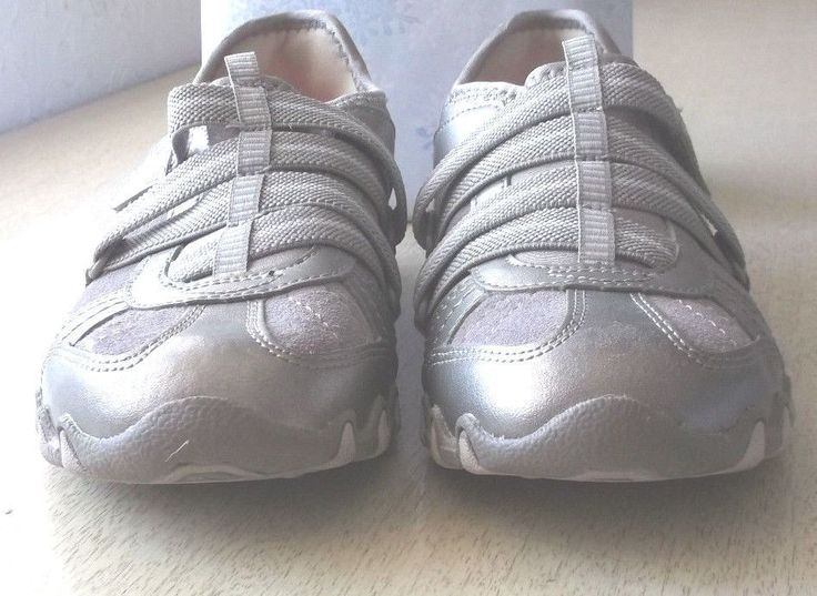 Skechers Bikers Slip-On Hook And Loop Leather  Womens Shoes Grey Size 5 1/2 #Skechers #Bikers #Casual