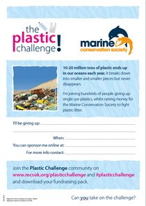 Plastic Challenge Fundraiser Pack 2017 | Marine Conservation Society