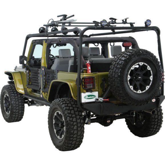 Body Armor Jk 6124 4x4 Roof Rack Base Kit For 07 18 Jeep Wrangler Unlimited Jk 4 Door Quadratec Jeep Wrangler Jeep Wrangler Jk Jeep Wrangler Unlimited