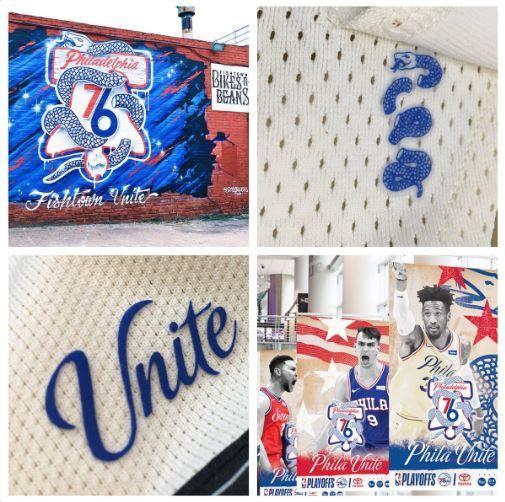 sale retailer 40c1f 1a7c6 Video: Sixers Unveil 'Phila Unite' Playoff Campaign & Logo ...