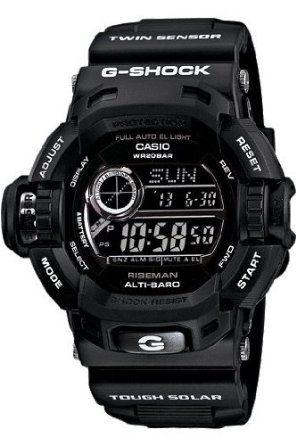 Casio G-Shock G-Force Military Concept Riseman Black G9200BW-1