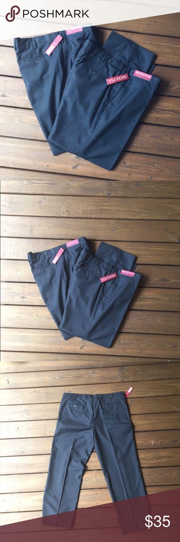 Two New pair of men's slacks size 42 x34 pants Two New pair of men's slacks. Never been worn with tags size 42 x34 Merona Pants Dress