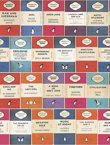 Osborne & Little Penguin Library Wallpaper main image