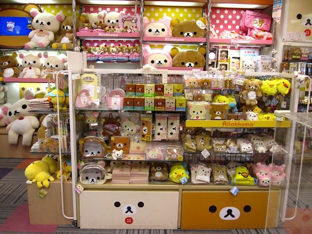 Japanese Toys And Gifts : Rilakkuma toys and gifts at kiddyland tokyo japan kawaii