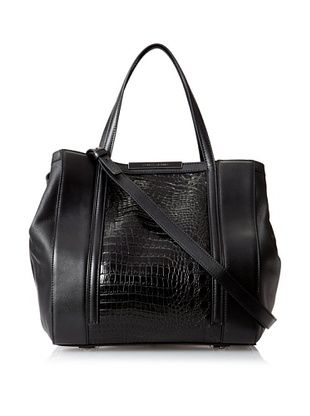 66% OFF Charles Jourdan Women's Bailey 3 Tote, Black Croco