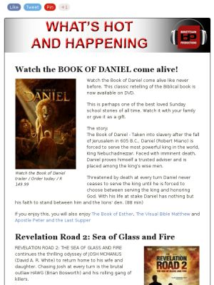 Book of Daniel, Revelation Road, Oom Karoolus en Lente Screenings and more in this week's Brettian Productions Newsletter... check it out!