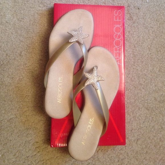 Aerosoles beach soft golf starfish sandal. Size 5 Aerosoles beach soft golf starfish sandal. Size 5. Worn once. In perfect condition. Purchased from Bloomingdales. Comes in original shoe box. AEROSOLES Shoes