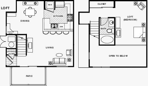 View Polo Villas Loft apartment floor plans below.