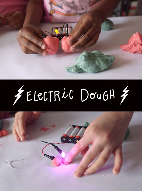 Homemade dough for electric circuits! Who knew salt dough was such a great conductor? Amp up the multisensory fun and learn about electricity with this homemade play dough (via PBS)
