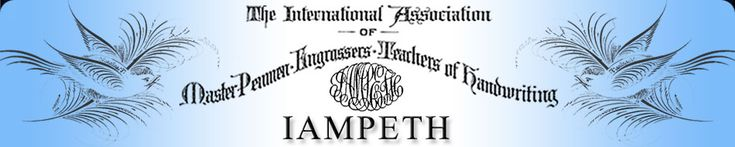 Welcome to the IAMPETH Lessons pages. Here you will find a wealth of material for learning calligraphy and penmanship. Cursive handwriting, Ornamental Penmanship, Copperplate, Spencerian script - we have lessons on these and much more.