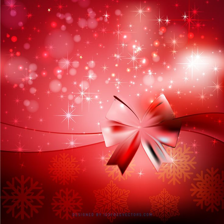Red Christmas Background with Gift Bow  - https://www.123freevectors.com/abstract-red-christmas-background-with-gift-bow-76870/