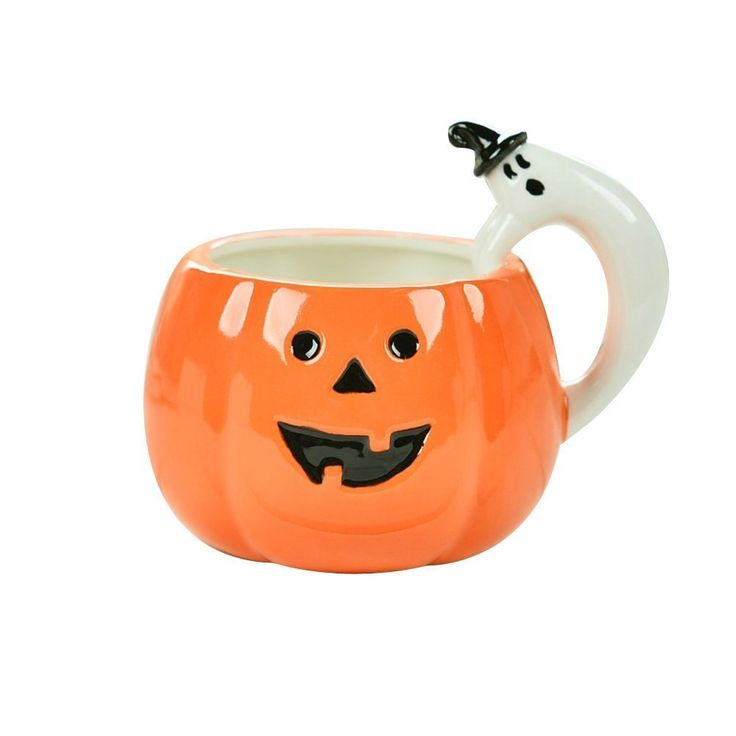 Rainbow Fox Halloween Kürbis Becher Kreativ Neuheit Tassen Keramik Tassen: Amazon.de: Küche & Haushalt