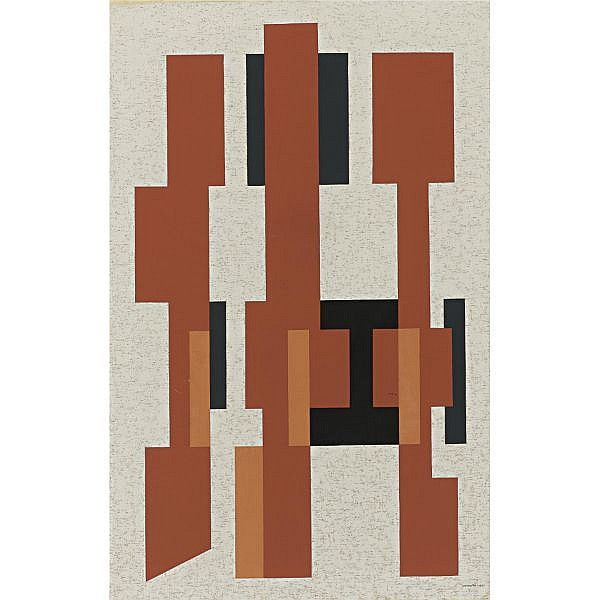 Artist: Mario Carreño (1913-1999); Title: Geometric Composition, 1961.