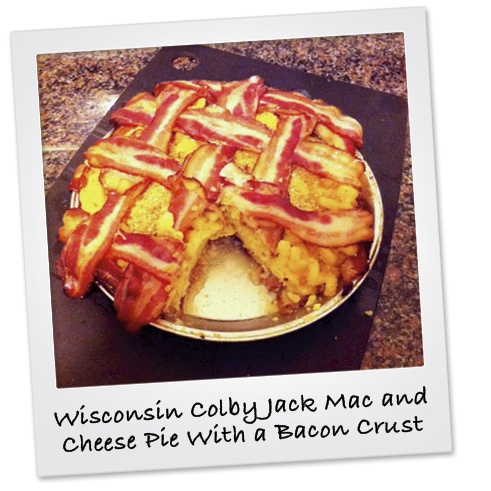 ... Colby Jack Mac & Cheese Pie With a Bacon Crust: Cheese Pies