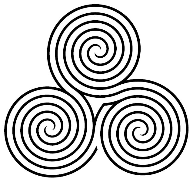 """Triple spiral labyrinth - A labyrinth is an ancient symbol that relates to wholeness. It combines the imagery of the circle and the spiral into a meandering but purposeful path. The Labyrinth represents a journey to our own center and back again out into the world. Labyrinths have long been used as meditation and prayer tools. Within."""""""
