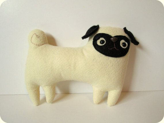 FREE SHIPPING US Stuffed toy pug plush pug pug by sleepyking