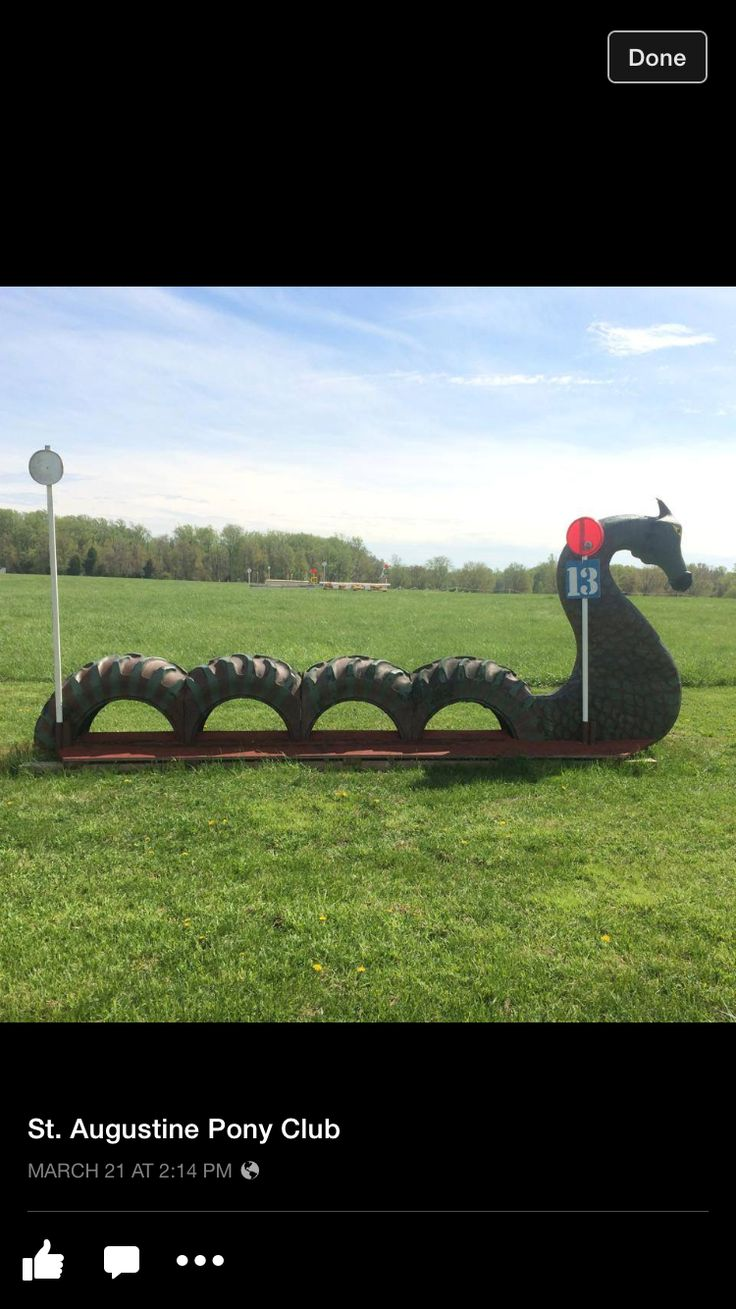 Loch ness monster playstructure out of tires