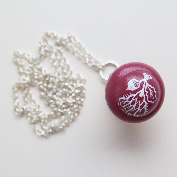 Knob necklace / forest undergrowth / Autumn series di Cevi su Etsy