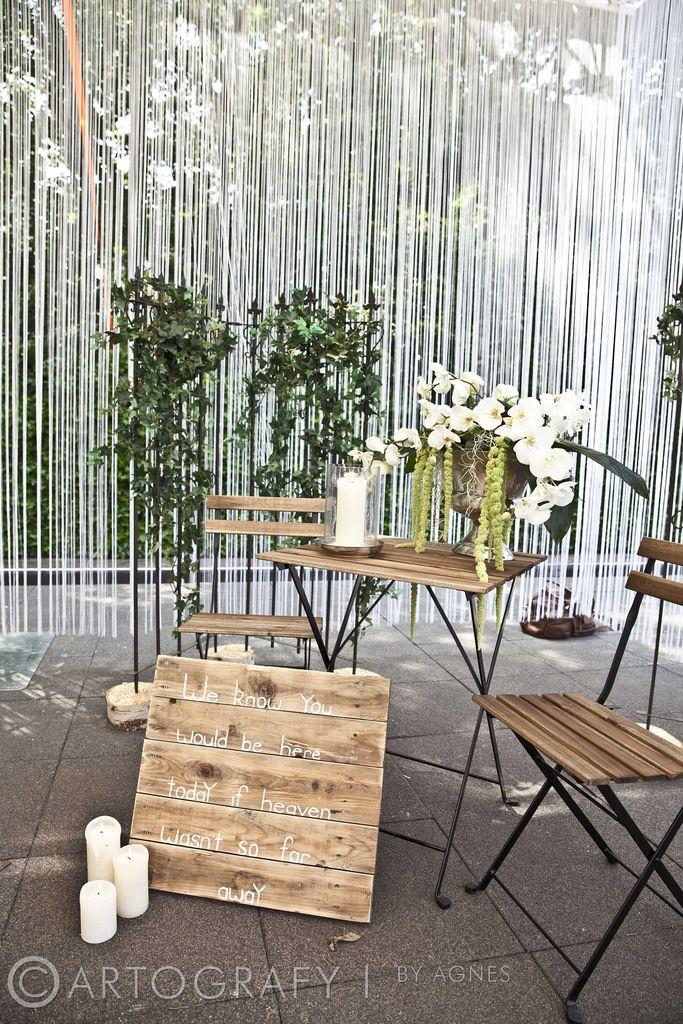 Bruiloft Diana & Maarten Wedingplanner: Prachtige Plannen | Weddings & Events Gedenkhoekje voor de dierbaren die niet op de bruiloft aanwezig kunnen zijn