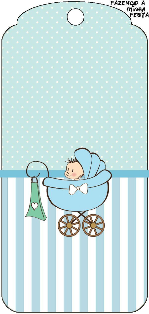 Tag Agradecimento Chá de Bebê ou Chá de Fraldas: