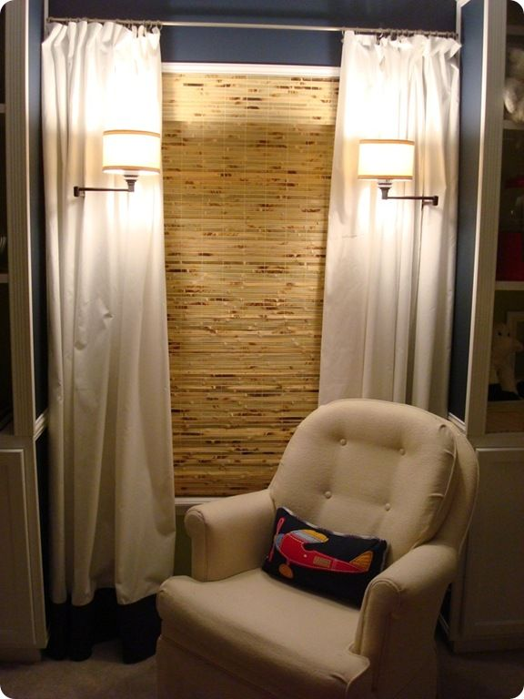 2 Inch White Faux Wood Blinds Or Bamboo Roman Shades