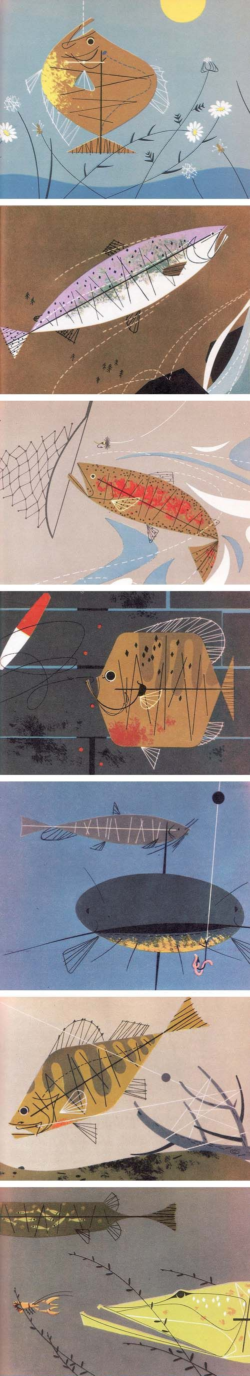 25 best ideas about charley harper on pinterest fish for Charley s fishing