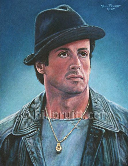 ORIGINAL oil painting Rocky 5 Sylvester Stallone by billpruittart #RockyBalboa #SlyStallone