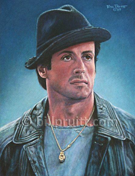 ORIGINAL oil painting Rocky 5 Sylvester Stallone by billpruittart #RockyBalboa #SlyStallone