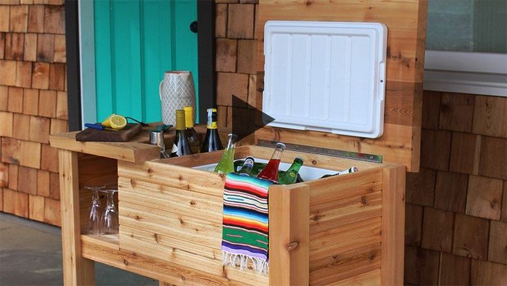 How to build a portable cooler bar with Real Cedar - Western Red Cedar Lumber Association