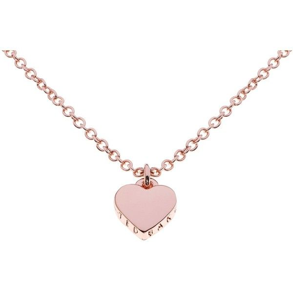Ted Baker Hara Tiny Heart Pendant Necklace , Rose Gold ($36) ❤ liked on Polyvore featuring jewelry, necklaces, rose gold, rose gold pendant, rose gold necklace, engraved necklaces, rose gold necklace pendant and engraved pendant necklace