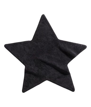 star shaped terry rug; Product Detail | H&M US