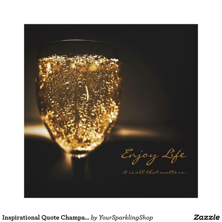 Inspirational #Quote Sparkling #Wine Champagne Gold Bubbles Wrapped #Canvas