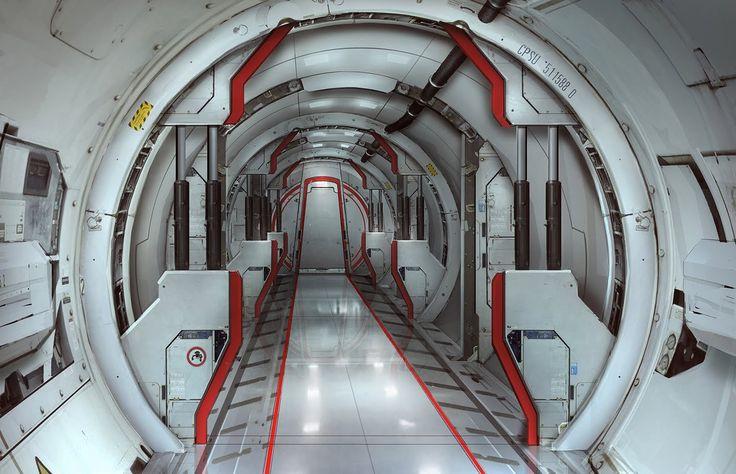 Sci Fi corridor, Sam  Brown on ArtStation at http://www.artstation.com/artwork/sci-fi-corridor-5830a13c-5bd6-48e4-9d35-3b33762342e3