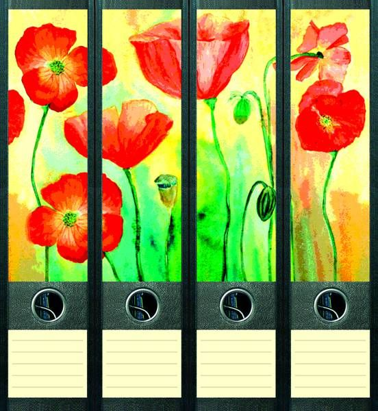 Lever Arch File Label Flowers AJ044