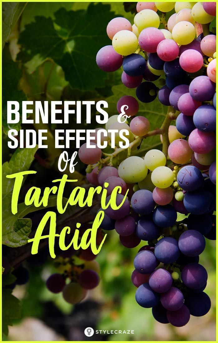 3 Amazing Benefits And 2 Side Effects Of Tartaric Acid #health #benefits