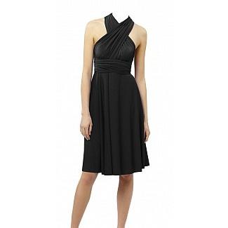Multi way wrap dress in black