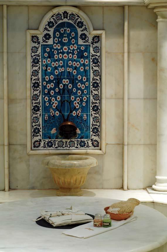 Traditional Turkish Bath with traditional #peshtemal #towel