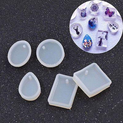 Molde De Silicone Novo faça você mesmo molde Fabricação De Joias Pingente Com Furo pendurado Geométrico