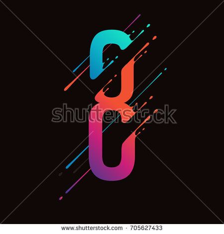 Modern abstract colorful number. Dynamic liquid ink splashes number. Vector design element for your art. Number 8