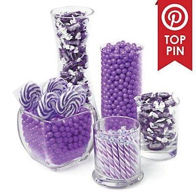 Purple   Baby Shower Candy Buffet Kit | BigDotOfHappiness.com
