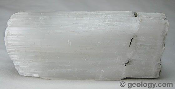 Satin spar a fibrous variety of gypsum from derbyshire