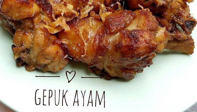 Resep Gepuk Ayam Manis Gurih - Selamat pagi, hmmm pagi pagi gini enaknya bikin empal